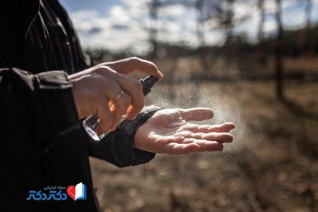 ضدعفونی دست برای مقابله با ویروس کرونا
