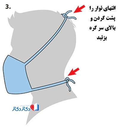 طرز ساخت ماسک تنفسی پارچهای با تیشرت بدون خیاطی