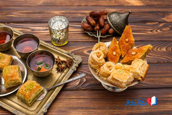 مصرف غذاهای چرب و شیرین در افطار