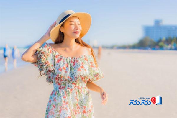 تابش خورشید دلیل اصلی پیری پوست
