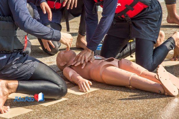 آموزش برای نجات فرد از غرق شدن
