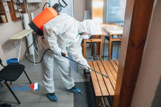ضدعفونی کردن محیط کار