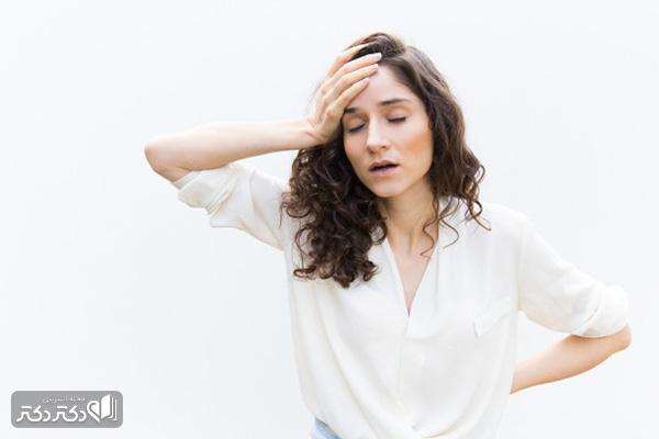 خستگی نشانه فشار خون پایین